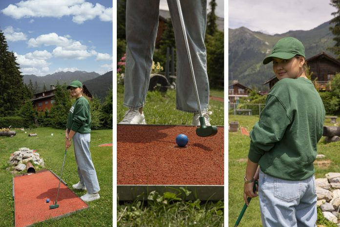 verbier, mini golf, switzerland, suisse, verbier infinite playground pass, elvira legrand